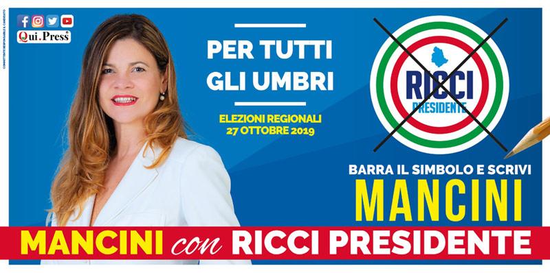 Mancini elezioni Umbria